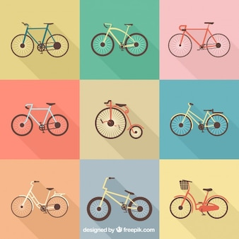 Colection of retro bikes