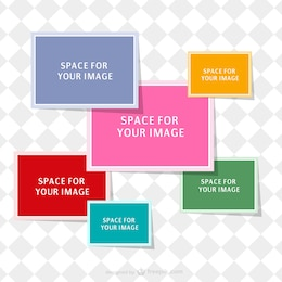 Collage vector template