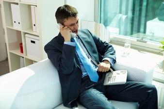 Collar contemporary person aggressive office