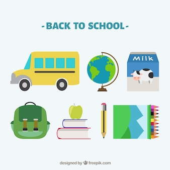 Collection of back to school elements