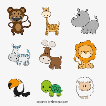 Collection of cute animals