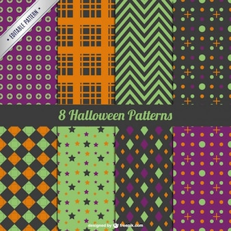 Collection of decorative halloween pattern