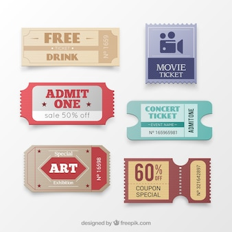 Collection of tickets