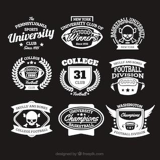College badges