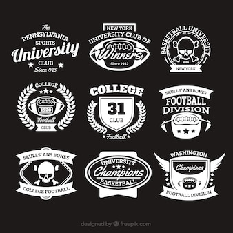 College badges