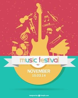 Coloful music festival