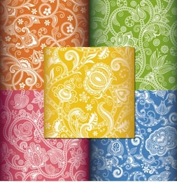 Color gorgeous flower shading vector background