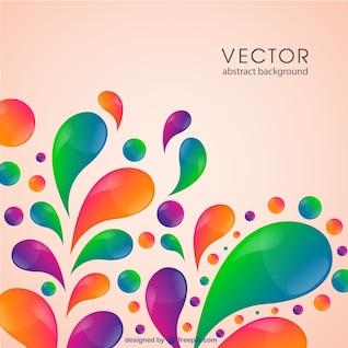 Color swirl vector template