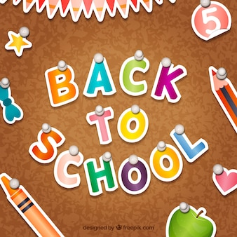 Colored back to school background