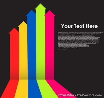 Colored business arrows background