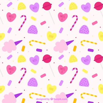 Colored candy pattern