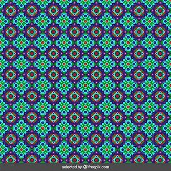Colored floral islamic mosaic