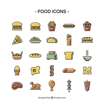 Colored food icons