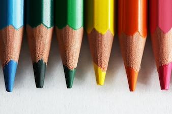 Colored pencil close