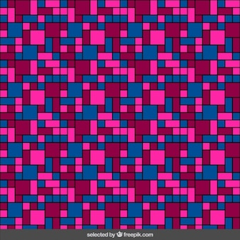 Colored tile pattern