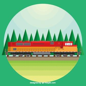 colored train