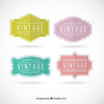 Colored vintage badges