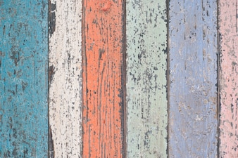 Colored wooden boards