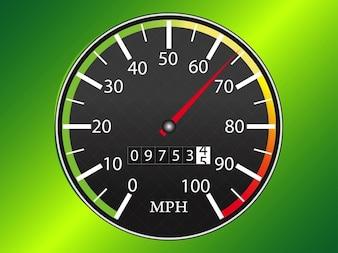 colorful analog speedometer in vector pack