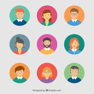 Colorful avatars