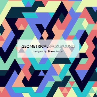 Colorful background in geometric style