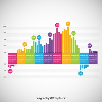 Colorful bars infographic