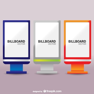 Colorful billboards pack