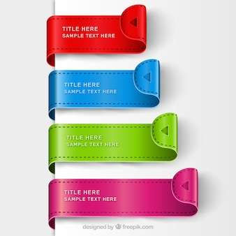 Colorful bookmark templates
