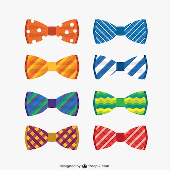 Colorful bow ties collection
