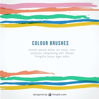 Colorful brushes background