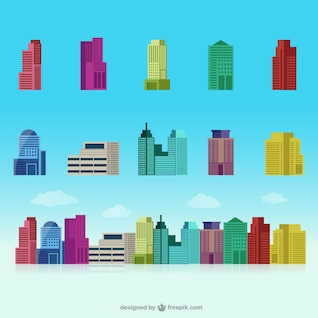 Colorful buildings collection