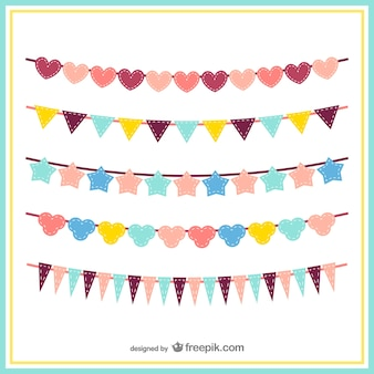 Colorful bunting pack