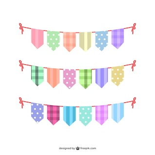 Colorful bunting set