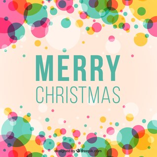 Colorful Christmas lettering