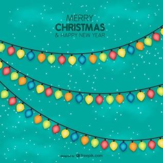 Colorful Christmas lights vector