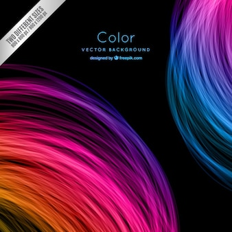 Colorful circles background in neon style