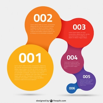 Colorful circles infographic