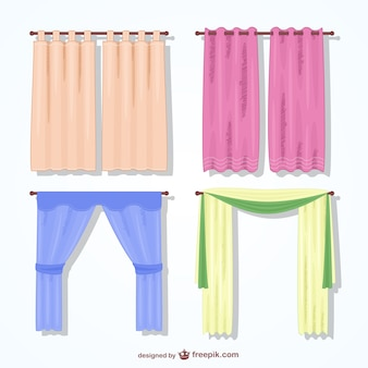 Colorful curtains pack