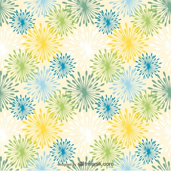 Colorful dandelions pattern