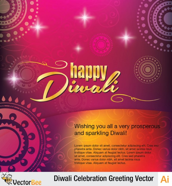 Colorful diwali background greeting template