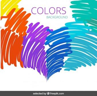 Colorful doodling background