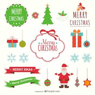 Colorful flat Christmas decoration