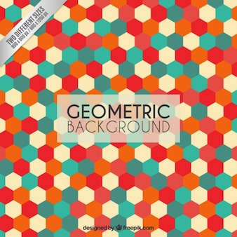 Colorful geometric background  with hexagons
