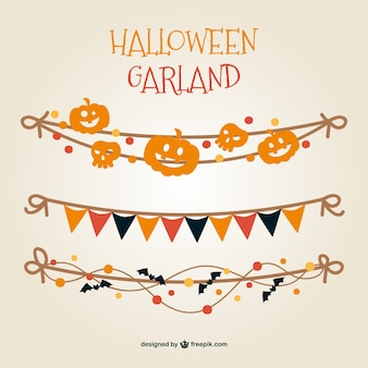 Colorful Halloween garland vector