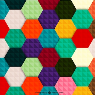 Colorful hexagon vector