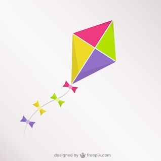 Colorful kite vector free