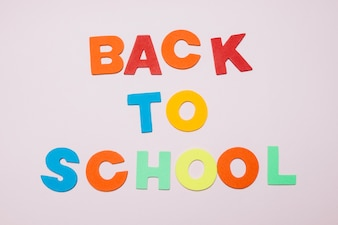 Colorful letters saying Back to school