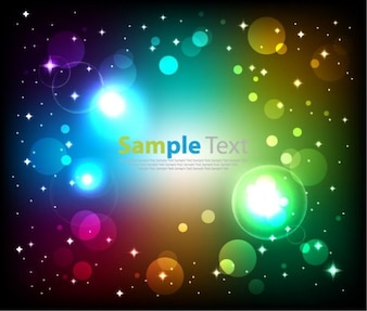 Colorful lights in dots background