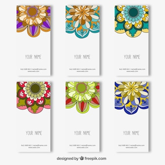 Colorful mandala banners