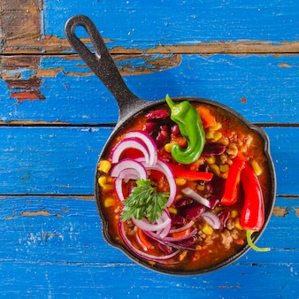Colorful mexican cooking pot
